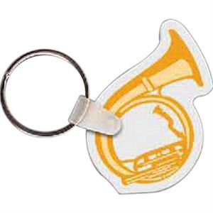 "Tuba Shaped Key Tag, 1.48"" W X 2.04"" H"