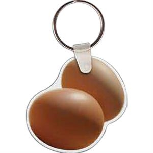 "Egg Shaped Key Tag, 2.04"" W X 1.98"" H"