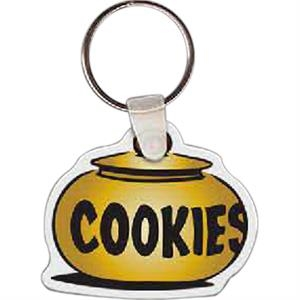 "Cookie Jar Shaped Key Tag, 2"" W X 1.67"" H"