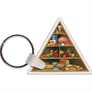 "Food Pyramid Shaped Key Tag, 2"" W X 1.74"" H"