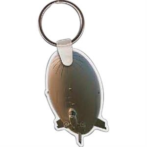 "Blimp Shaped Key Tag, 1.44"" W X 2.25"" H"