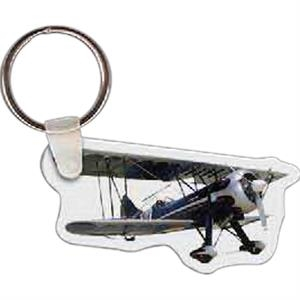 "Bi Plane Shaped Key Tag, 2.51"" W X 1.33"" H"
