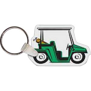 "Golf Cart Shaped Key Tag, 2.29"" W X 1.5"" H"