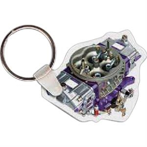 "Carburetor Shaped Key Tag, 2"" W X 1.74"" H"