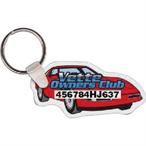 "Car Shaped Key Tag, 2.65"" W X 1.3"" H"