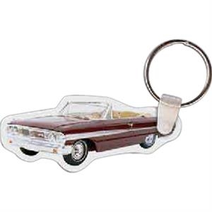 "Convertible Shaped Key Tag, 2.84"" W X 1.82"" H"