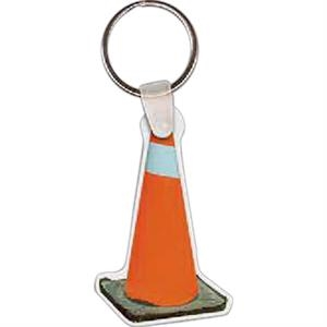 "Construction Cone Shaped Key Tag, 1.49"" W X 2.4"" H"