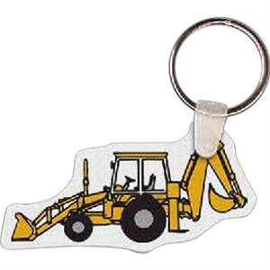 "Excavator Shaped Key Tag, 2.71"" W X 1.44"" H"