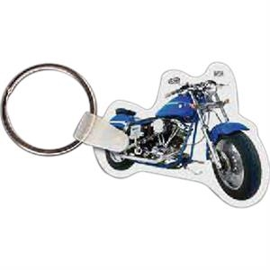 "Motorcycle Shaped Key Tag, 1.99"" W X 1.65"" H"