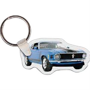 "Car Shaped Key Tag, 2.41"" W X 1.25"" H"