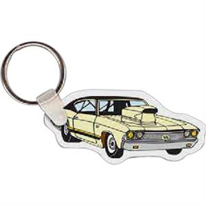 "Muscle Car Shaped Key Tag, 2.66"" W X 1.25"" H"