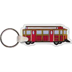 "Trolley Shaped Key Tag, 2.8"" W X 1.21"" H"