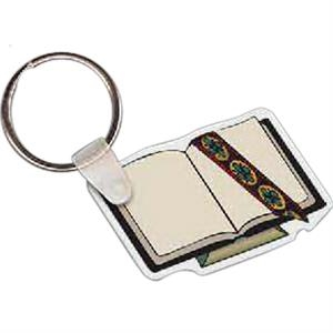"Bible Shaped Key Tag, 2.16"" W X 1.51"" H"