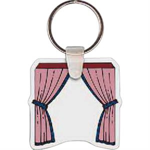 "Drapes Shape Key Tag, 1.77"" X 1.73"""