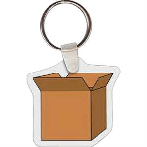 "Open Box Shape Key Tag, 1.75"" X 1.62"""