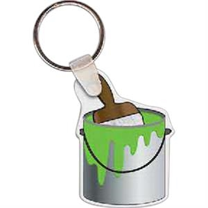 "Paint Can With Brush Shape Key Tag, 1.33"" X 1.93"""