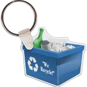 "Recycle Bin Shape Key Tag, 1.92"" X 1.75"""