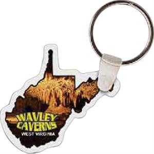"West Virginia Shape Key Tag, 1.95"" X 1.76"""