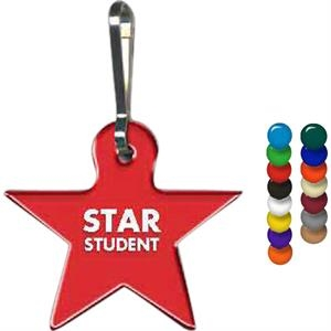 "Full Color On White Item - Full Color Star Shape Zippy Clip, 1.44"" X 1.27"""