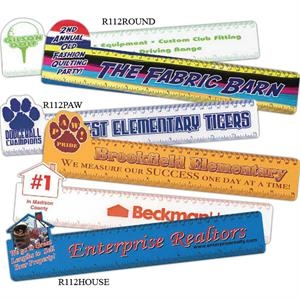 "Full Color Paw Shape 12"" Ruler, 12 1/4"" X 3 1/8"""