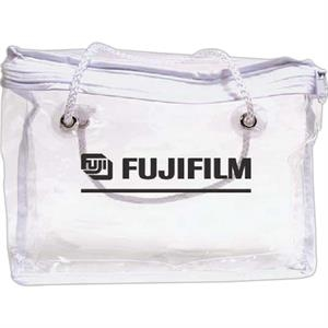 Clear Vinyl Zippered Bag