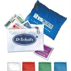 Travel First Aid Kit in Zippered Bag