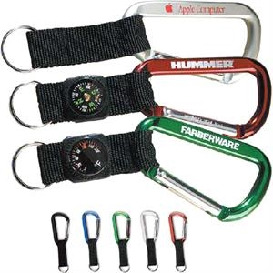 Lewis - 1 Day - 80mm Carabiner With Compass In Black Strap