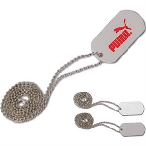 "Platoon - 2 Hours - Designer Dog Tag. Made Of Anodized Aluminum, Includes 23 3/4"" Chain"