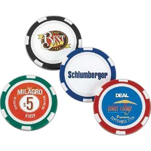 "Chip - 1 Day Rush Service - High Quality, Standard 1/8"" Thick And Heavy .4 Oz. Poker Chip"