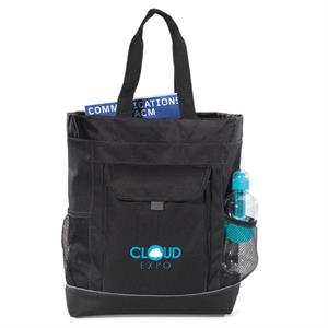 Transitions - Black - Backpack Tote Bag With Side Mesh Water Bottle Pockets
