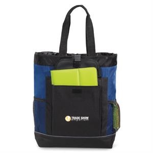 Transitions - Royal Blue - Backpack Tote Bag With Side Mesh Water Bottle Pockets
