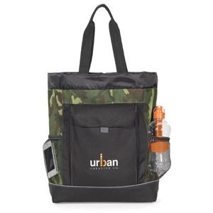 Transitions - Urban Camo Backpack Tote Bag With Side Mesh Water Bottle Pockets