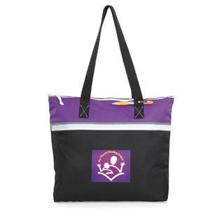 Muse - Purple - Convention Tote Bag With Large Capacity Compartment And Zippered Closure