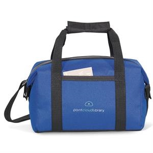 Pacific - Royal Blue - Polyester Lunch Cooler With Zippered Closure To Expandable Main Compartment