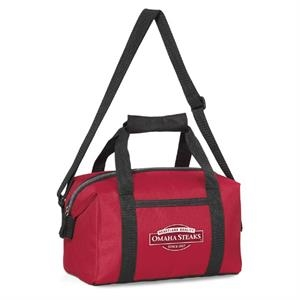 Pacific - Red - Polyester Lunch Cooler With Zippered Closure To Expandable Main Compartment