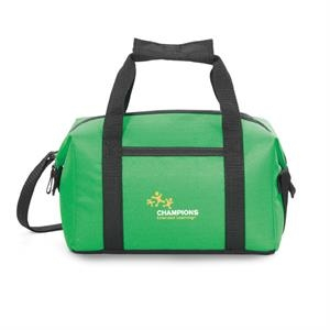 Pacific - Kelly Green - Polyester Lunch Cooler With Zippered Closure To Expandable Main Compartment