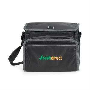 Scout - Black - Lunch Cooler With Zippered U-shaped Opening With Pull Tab
