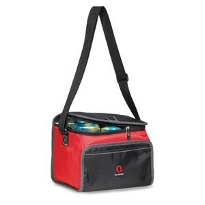 Scout - Red - Lunch Cooler With Zippered U-shaped Opening With Pull Tab