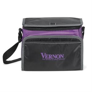 Scout - Purple - Lunch Cooler With Zippered U-shaped Opening With Pull Tab