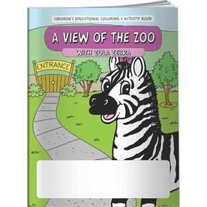 Coloring Book - A View Of The Zoo With Zola Zebra