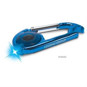 Blue Flashlight Carabiner
