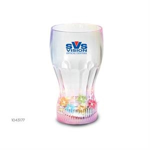 Tumbler - Light Up Faceted Glass With Five Colored Led Lights