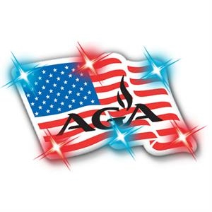 Clingonz (tm) - U.s. Flag - Led Button With Butterfly Clasp