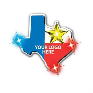 Clingonz (tm) - Texas - Led Button With Butterfly Clasp