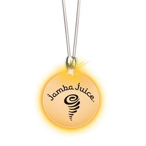 Round/orange Led - Frosted Glow Pendant. Constant Glow. Magnetic Safety Clasp