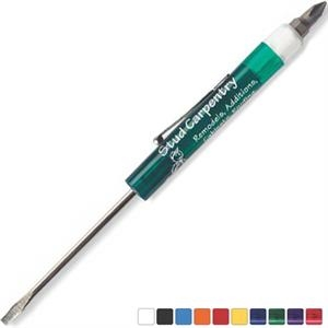 Fixed #0-1 Standard Size Blade Pocket Screwdriver With Hex-bit Top