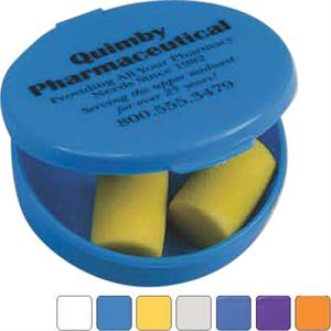 Ear Plug Kit, Includes 1 Polybagged Set Of Yellow Soft Foam Plugs In A Case