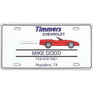 License Plate Shape, Flexible 55 Mil Thickness Magnet