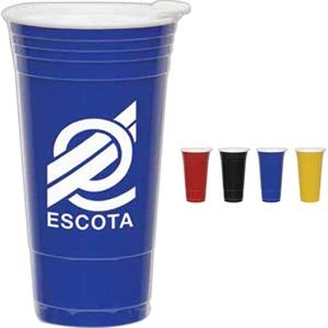 Blue - 20 Oz. Double Walled Bpa Free Fill Up Cups