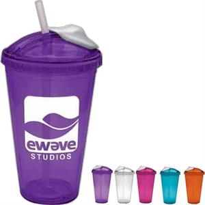 Aqua - 16 Oz Cup With Slide Lid